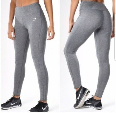 f5fcf0cfc7ad8 GYMSHARK DRY SCULPTURE leggings charcoal marl (grey) - size small ...