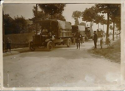 BRY SUR MARNE c. 1910 - Camions Militaires Darracq Serpollet Manoeuvres  PRB 598