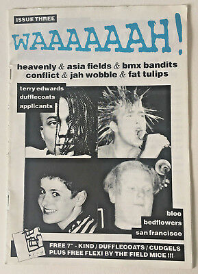 WAAAAAAH! Indiepop Fanzine Issue 3 Heavenly Fat Tulips BMX Bandits 1992 Rare!