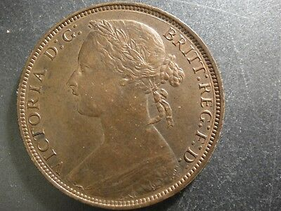 1881-H Great Britain Queen Victoria Large Penny. Uncirculated.