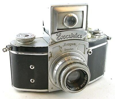 1936 Kine EXAKTA I (Round Viewfinder Window) 35mm SLR w/Tessar 1:2.8 50mm Lens