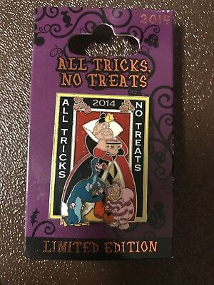 2014 Disney Pin All Tricks No Treats Queen Of Hearts  Limited Edition