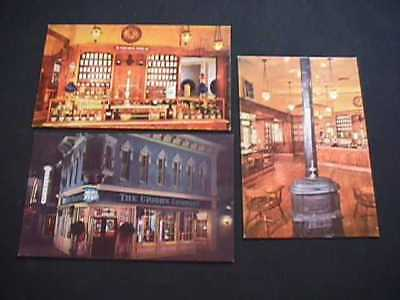 3 Upjohn Company's Old-Fashioned Drugstore Disneyland Postcards