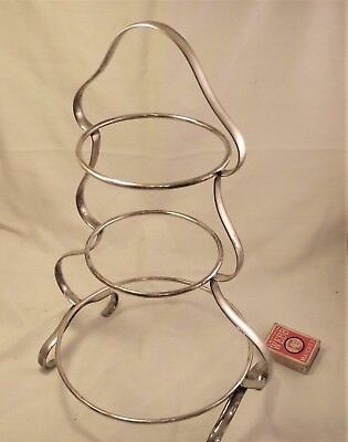 Vintage Three Tier Silver Plated Cake Stand / Afternoon Tea Stand