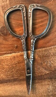 Antique Vintage Sterling Silver Embroidery Scissors - Wallace Art Nouveau