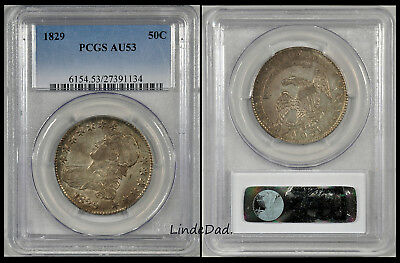 1829 PCG AU53 Capped Bust Half Dollar ~ # 27391134 ~ Toned ~