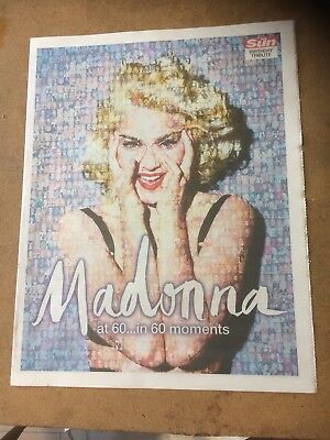 The Sun Newspaper. Madonna At 60, In 60 Moments Pull-Out.