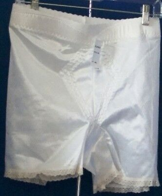 NWT $18.00 White GEMINI Long-Leg GIRDLE Style #245 Sz 4XL Shaper w. CONTROL