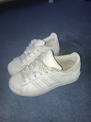 Adidas White Superstars Size 3 1/2 - Worn