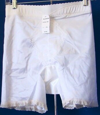 NWT $18.00 White GEMINI Long-Leg GIRDLE Style #245 Sz 2XL Shaper w. CONTROL