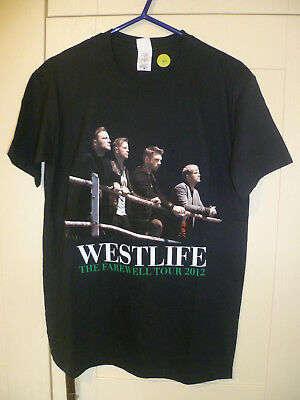 "Westlife - Vintage ""the Farewell Tour 2012"" Black T-Shirt (M)"