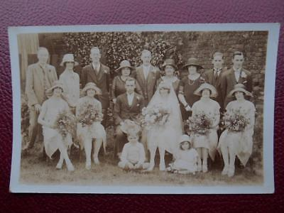 Bride Groom Bridesmaids Wedding Party *Vintage* RP c1920s Costume Fashion