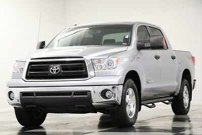 Toyota Tundra Tundra 4X4 Silver Sky Metallic Truck For Sale 4WD Used 5.7L V8 CrewMax Bed Liner Cab Truck Pickup 13 14 2013 12 Gray