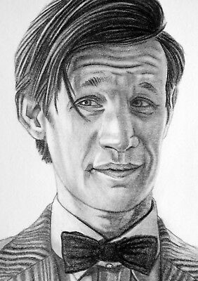 ORIGINAL ACEO sketch card DOCTOR WHO Matt Smith TIME LORD