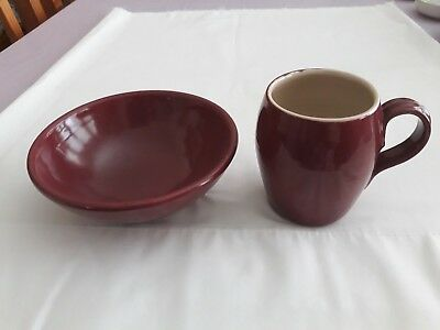 Early Buchan Pottery Porridge Bowl And Mug