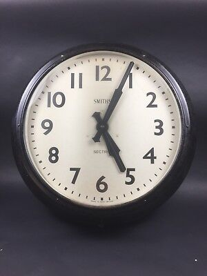 "Large 24"" Vintage Industrial of SMITHS SECTRIC Factory Station Wall Clock"