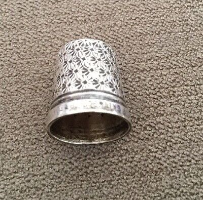 Sterling Silver Thimble THE SPA HENRY GRIFFITHS & SONS HG&S Size 15