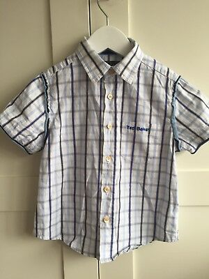 Ted Baker Boys Short Age 4 Worn Once Blue White Check Summer