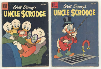 1959 UNCLE SCROOGE #25 & #26 comic books. All Carl Barks