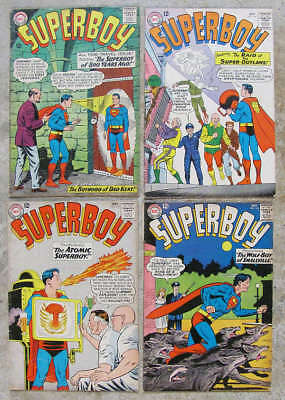 Four 1964 SUPERBOY comic books #113, #114, #115, #116. All around Very Good+
