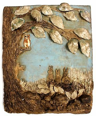 MLH 2005 Woodland Themed POTTERY WALL PICTURE/ PLAQUE  - P12