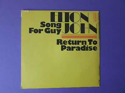 "Elton John Song for Guy Vinyl Single 7"" Amiga 456398 1979 (55)"