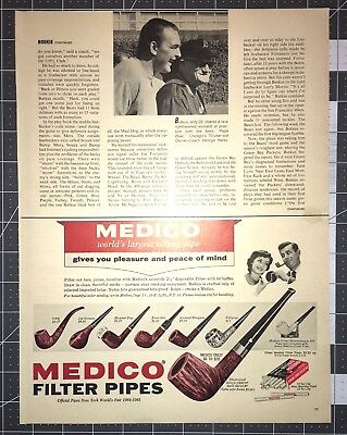Life Magazine Ad MEDICO Filter Pipes World's Largest Selling Pipe