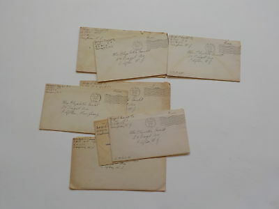 10 WWII Letters Navy Sampson New York Clifton New Jersey Naval VTG WW II WW2 Lot