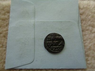 "1720 REVERSED ""2"" Russia Peter The Great Polushka copper coin Scarce ERROR"
