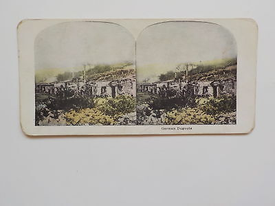 WWI Stereoview German Dugouts Stereo View WW I Old World War One Picture WW1