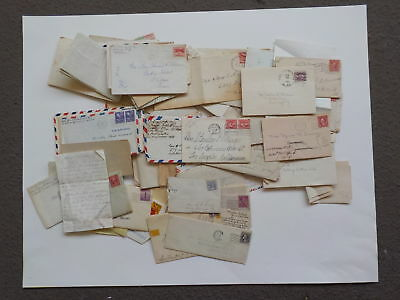 80 Old Letters 1800s-70s Correspondence Collection Lot Covers VTG Paper Stamps