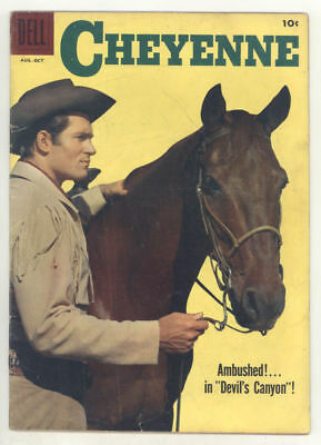 1958 CHEYENNE #8 comic book with CLINT WALKER photo cover