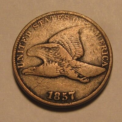 1857 Flying Eagle Cent Penny - Very Fine Condition - 14SU-2