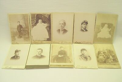 Ten Cabinet Card Photographs.  Excellent Conditions. #2