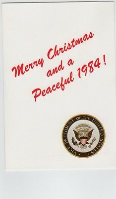 1984 Vice President George Bush & First Lady Christmas Card