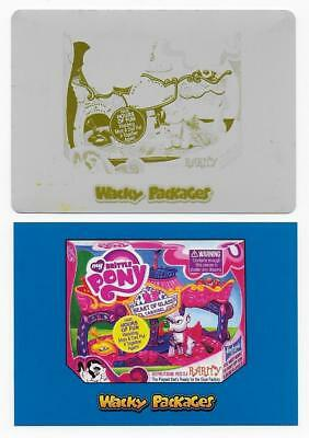 2018 Topps Wacky Packages Go to the Movies YELLOW PRINTING PLATE My Brittle Pony