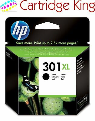 Original HP 301XL black ink cartridge for Envy 4500 e-All-in-One Printer CH563EE