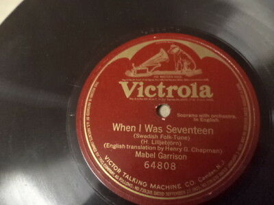 VICTROLA 1-Sided 78/Mabel Garrison-Soprano w.Orch./E!