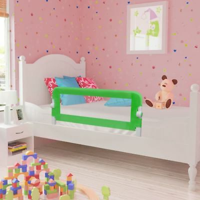 vidaXL Toddler Safety Bed Rail 102x42cm Green Baby Cot Protective Gate Guard