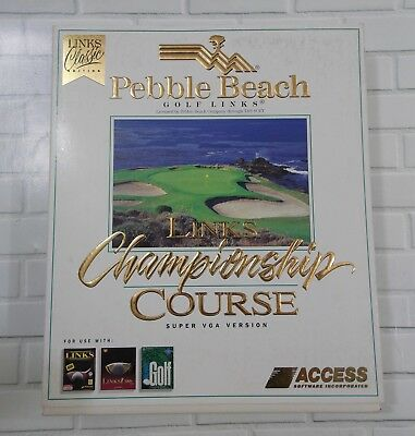 LINKS Championship Course lot of 5, ACCESS Software, MS-DOS 3.5, Pebble Beach