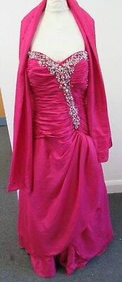 Angel Forever Pink Prom Dress by EleganciaUK Size XXXL Embroidered - EXX H98