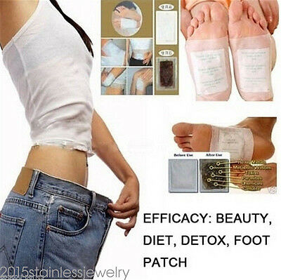 10PCs White Detox Foot Pad Patches Remove Harmful Body Toxins Health Boxed 520