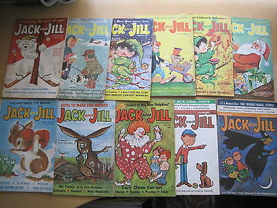 JACK and JILL : a BUNDLE of 11 ISSUES OF THE MONTHLY CURTIS USA MAGAZINE 1962-64