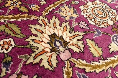 LOT #85 COLLECTORS ANTIQUE ARTS AND CRAFTS  WOOL BEAUTY , 8'0 x 5'1, 1920's