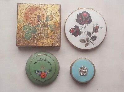 LOT of 4 Vintage Compact Vanity Compact Mirrors Makeup Estee Lauder Stratton