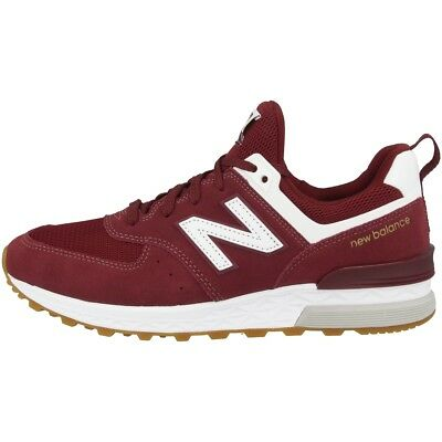big sale 45587 991cc NEW BALANCE MS 574 FCW Schuhe Sport Herren Retro Sneaker burgundy white  MS574FCW