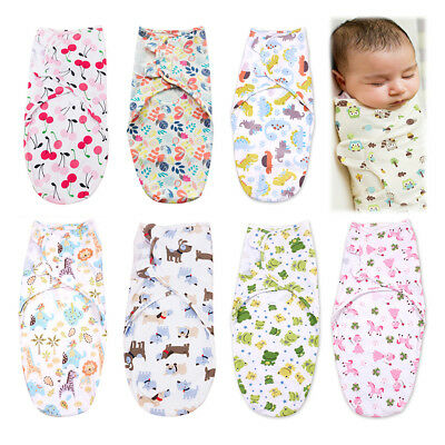 Baby Swaddle Wrap Newborn Infant Bedding Blanket Soft Cotton Sleeping Bag