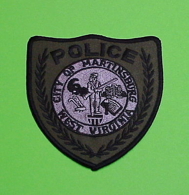 Martinsburg  West Virginia  Wv  Subdued Green   Police Patch   Free Shipping!!!