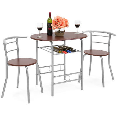 BCP 3-Piece Wooden Dining Table and Chairs Set