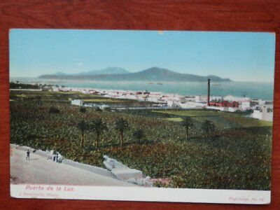 Puerto De La Luz Canarias Postal Antigua J. Perestrello Photo